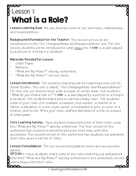 {Grade 1} Our Changing Roles and Responsibilities