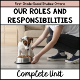 Our Changing Roles and Responsibilities-Grade One Ontario Social Studies