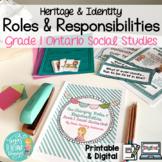 Changing Roles & Responsibilities: Grade 1 Ontario Social Studies Print&Digital