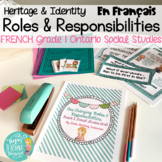 FRENCH: Our Changing Roles and Responsibilities: Grade 1 Ontario Social Studies
