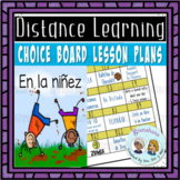 El Imperfecto: Our Choice Board Lesson Plan for Distance L