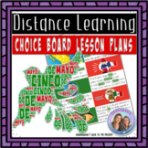 Our Choice Board for Distance Learning cinco de mayo + 15