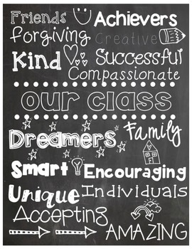 Our Class Chalkboard Poster