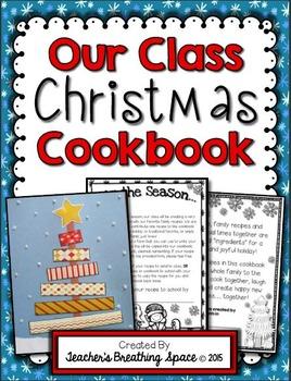 Our Class Christmas Cookbook --- Christmas Cookbook Parent Gift