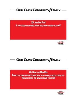 Our Class Community Conversation Cards