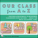 Our Class From A to Z: Hoot Themed Classroom Expectations