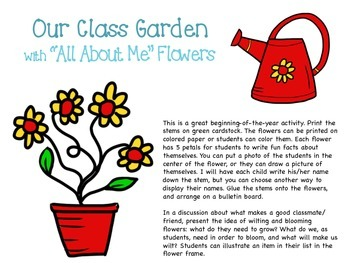 Our Class Garden (Get to Know You)