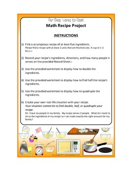 Our Class Loves to Cook!- Working with Fractions in Recipes