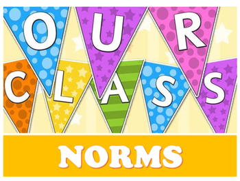Our Class Norms Pennant Banner and Classroom Rules Anchor Chart