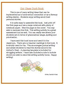 Recount Writing - Our Class OUCH Book