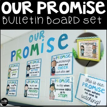 Our Class Promise Classroom Community Bulletin Board