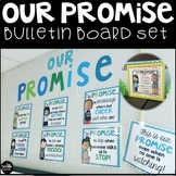 Our Class Promise Classroom Community Bulletin Board English and Spanish Version