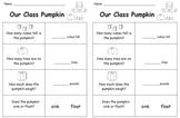Our Class Pumpkin record sheet