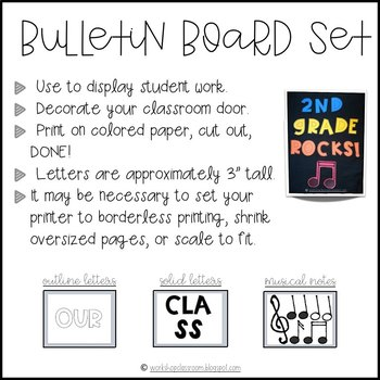 Our Class Rocks {and more} Bulletin Board Set -- *FREE*