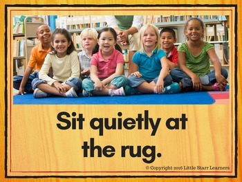 Our Class Rules - Photographs on wood background