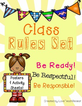 Our Class Rules: poster and activity set {3 rules for any subject}