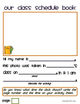 Our Class Schedule Book (A Telling Time Activity!)
