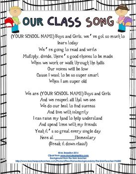 Our Class Song (Build Rapport, Community, and a Fun Learning Environment)