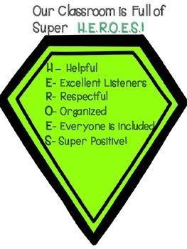 Our Class are Super H.E.R.O.E.S.