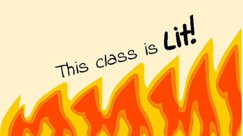 Our Class is LIT This Class is LIT poster