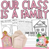 Our Class is a Family Activity | Writing Activity | Back to School Read Aloud