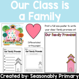 Our Class is a Family   Classroom Promises Activities and Posters