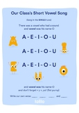 Our Class's Short Vowel Song