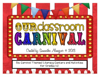 Carnival Themed Activity Pack - Six Literacy Center Activities for Grades 2-3
