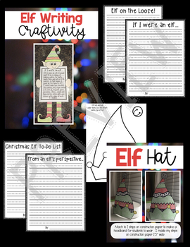 Elf Fun At School!  December Morning Work Journal & Christmas Activities