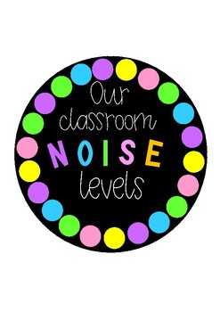 Our Classroom Noise Level Chart for Push Lights