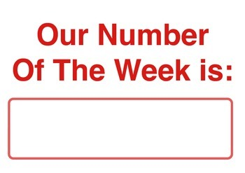 Our Classroom Number of the Week