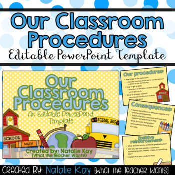 Our Classroom Procedures Editable PowerPoint for First Days of School