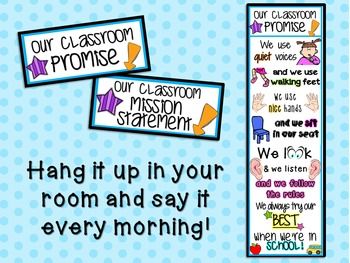 Our Classroom Promise or Mission Statement