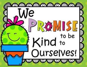 Our Classroom Promise Cactus Theme