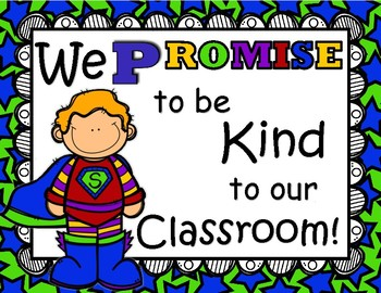 Our Classroom Promise Super Hero Theme