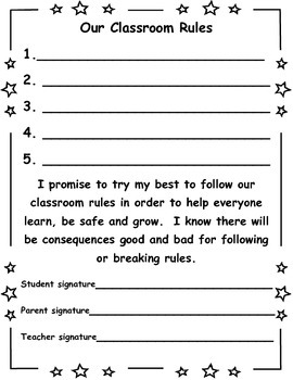 Our Classroom Rules Contract