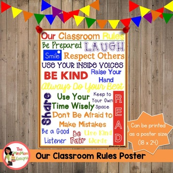 Our Classroom Rules Poster