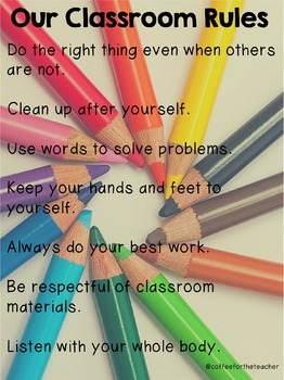 Our Classroom Rules Poster (editable)