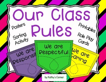 Our Classroom Rules - Sorting Activities and Printables
