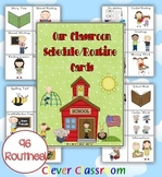 Classroom Schedule Cards: 96 routines