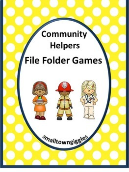 Community Helper Math and Literacy File Folder Games Special Education