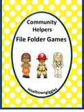 Community Helper,File Folder Games for Special Education,Autism Activities