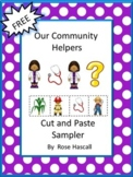 FREE Community Helpers NO PREP Math and Literacy Printables Kindergarten