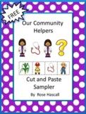 FREE Distance Learning Community Helpers Math Literacy Worksheets Kindergarten