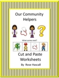 Community Helpers Cut and Paste Worksheets, Special Education, Autism Edition 2