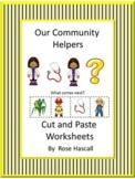 Community Helpers Worksheets, Kindergarten Cut and Paste Activities,  2nd Ed.