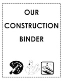 Our Construction Binder Cover and Page Template