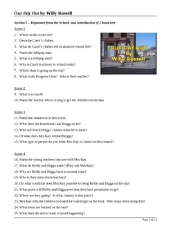 Our Day Out by Willy Russell - Close Reading/Viewing Questions
