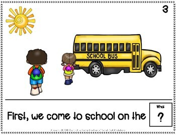 Our Day at School Adapted Book for Special Education, Autism, SPEDSCHOOLPREP