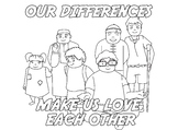 Color sheet Our Differences Make Us Love Each Other 2